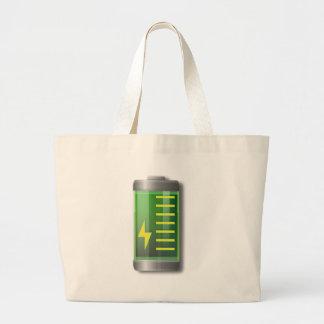 Battery Indicator Large Tote Bag