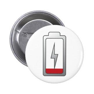 Battery Low! Pinback Button