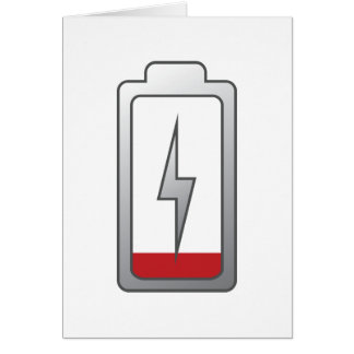 Battery Low! Card