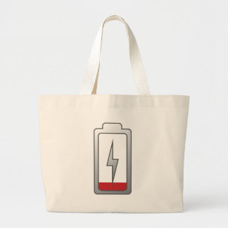 Battery Low! Large Tote Bag