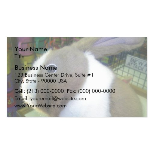 Battery Operated Bunny Toy Business Card