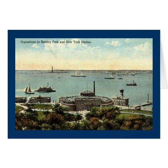 Battery Park Aquarium NY 1920 Vintage Card