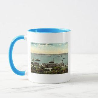 Battery Park Aquarium NY 1920 Vintage Mug