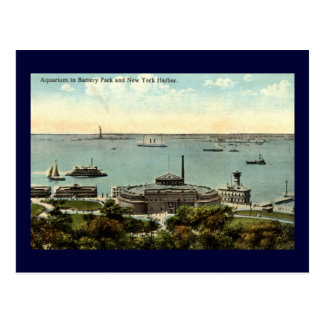 Battery Park Aquarium NY 1920 Vintage Postcard