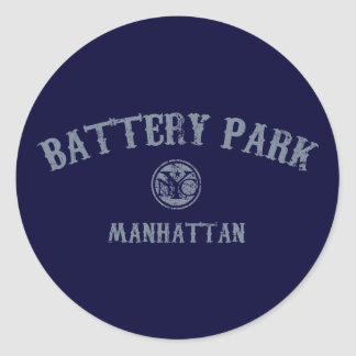 Battery Park Classic Round Sticker