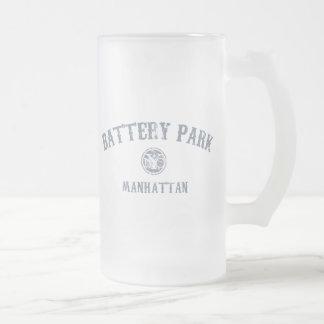 Battery Park Frosted Glass Beer Mug