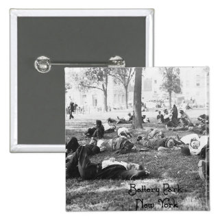 Battery Park - New York 2 Inch Square Button