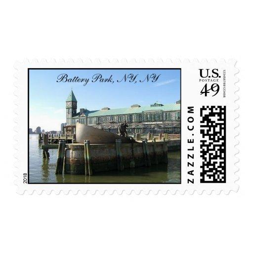Battery Park, NY, NY Stamp