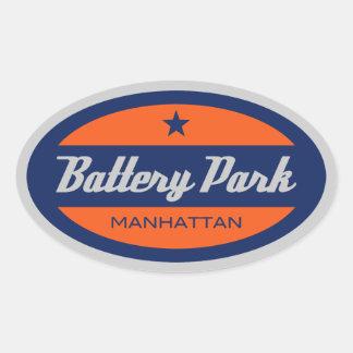Battery Park Oval Sticker