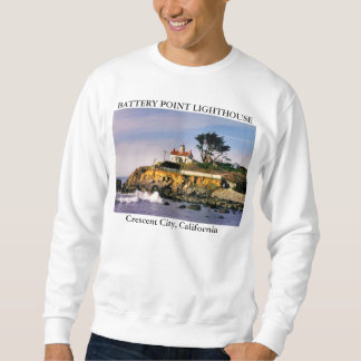Battery Point Lighthouse, Crescent City California Sweatshirt