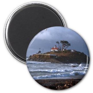 Battery Point Lighthouse & Gull Magnet