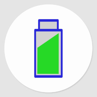 Battery status battery accu status classic round sticker
