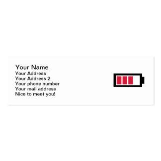 Battery symbol mini business card