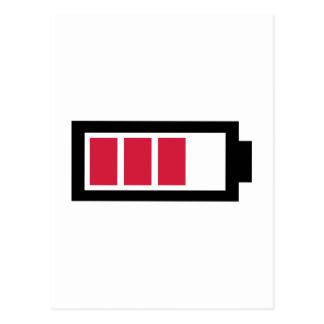 Battery symbol postcard