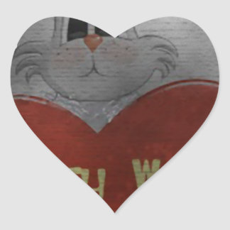 battery wanted heart sticker