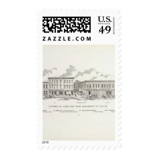 Battery West side Sacramento and Clay Postage Stamps