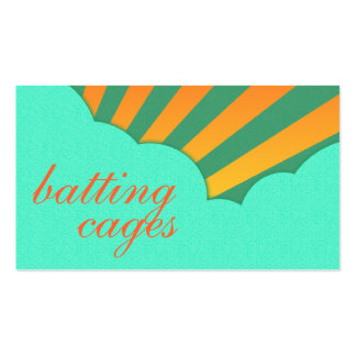 batting cages (vintage clouds) business card templates