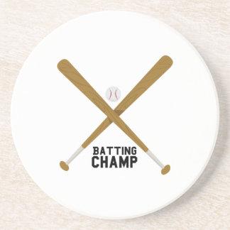 Batting Champ Sandstone Coaster