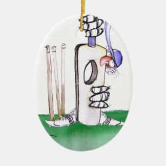 BATTING LESSON, tony fernandes Ceramic Ornament