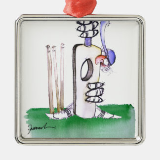 BATTING LESSON, tony fernandes Metal Ornament
