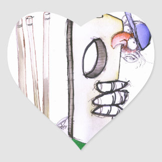 BATTING LESSON, tony fernandes Heart Sticker
