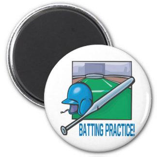 Batting Practice 2 Inch Round Magnet