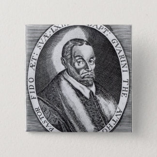 Battista Guarini, frontispiece to 'Il Pastor Pinback Button
