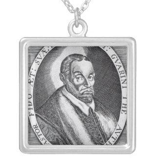 Battista Guarini, frontispiece to 'Il Pastor Square Pendant Necklace