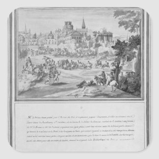 Battle at Porte Sainte-Antoine, 2nd July 1652 Square Sticker