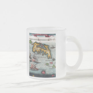 Battle At Sea Frosted Glass Coffee Mug