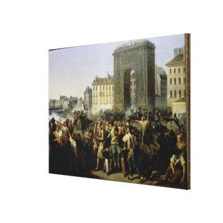 Battle at the Porte Saint-Denis, 28th July 1830 Canvas Print