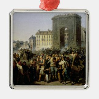 Battle at the Porte Saint-Denis, 28th July 1830 Metal Ornament