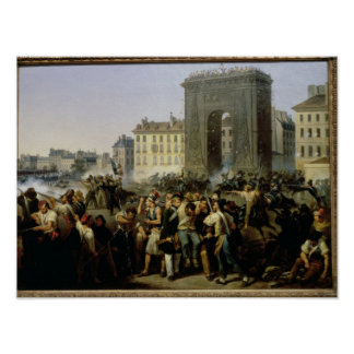 Battle at the Porte Saint-Denis, 28th July 1830 Poster