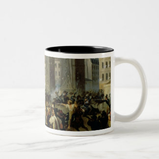 Battle at the Porte Saint-Denis, 28th July 1830 Two-Tone Coffee Mug