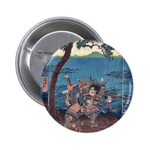 Battle at Yashima Dannoura by Utagawa, Yoshitora Button