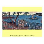 Battle at Yashima Dannoura by Utagawa, Yoshitora Postcards
