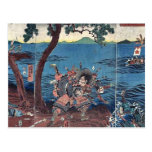 Battle at Yashima Dannoura by Utagawa, Yoshitora Post Card