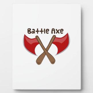 Battle Axe Display Plaque