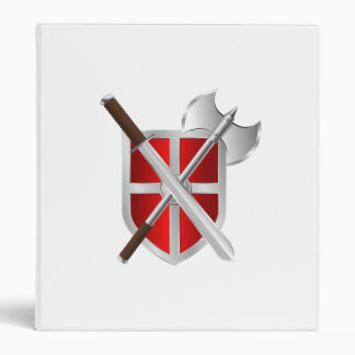 Battle Axe Sword and Shield Binder