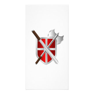 Battle Axe Sword and Shield Photo Cards
