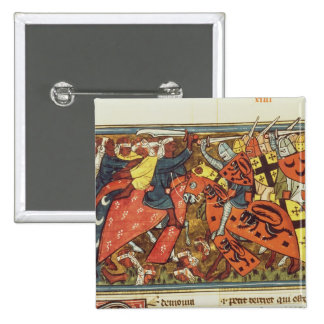 Battle between Crusaders and Moslems 2 Inch Square Button