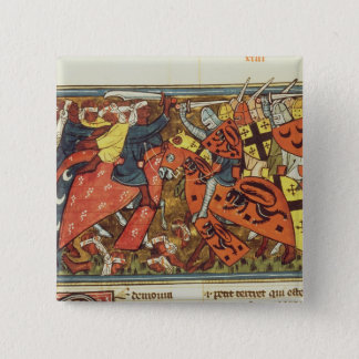 Battle between Crusaders and Moslems Button