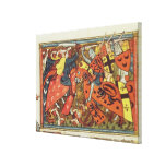 Battle between Crusaders and Moslems Stretched Canvas Print
