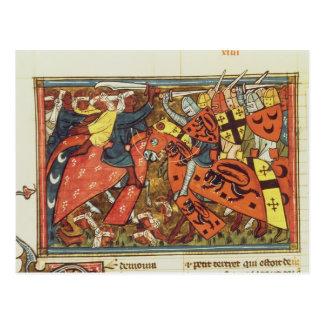 Battle between Crusaders and Moslems Postcard