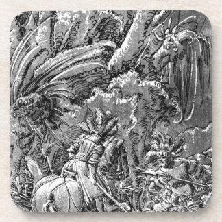 Battle between knights and mercenary by Albrecht Beverage Coaster