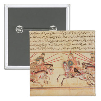 Battle between Mongol tribes, 13th century 2 Inch Square Button