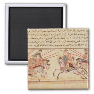 Battle between Mongol tribes, 13th century 2 Inch Square Magnet