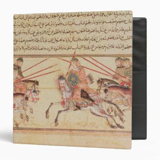 Battle between Mongol tribes, 13th century 3 Ring Binder