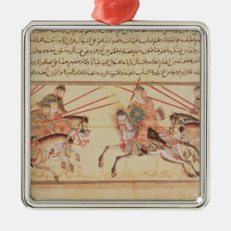 Battle between Mongol tribes, 13th century Metal Ornament