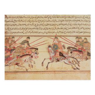 Battle between Mongol tribes, 13th century Postcard